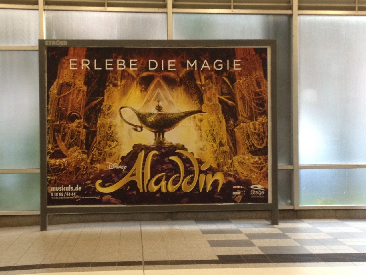 Orientalistische Musicalwerbung Aladdin