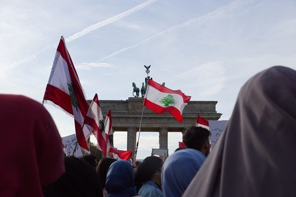 From Berlin to Beirut. We stand with you. #revolution